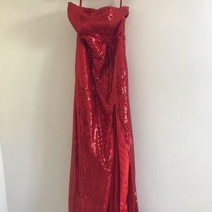 RED SEQUIN NIGHT GOWN